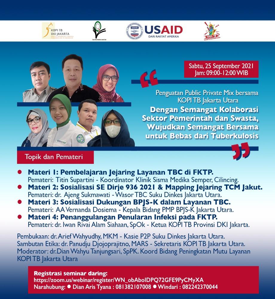 Webinar PPM TB bersama KOPI TB Jakarta Utara